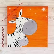 toile pour chambre bébé tableau enfant chambre bébé savane jungle zebre et sa maman