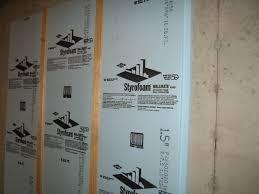 simple insulating basement walls wonderful decoration ideas modern