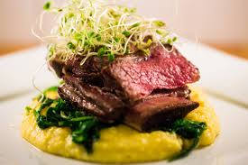 homemade 72 hour sous vide short ribs with truffled polenta food