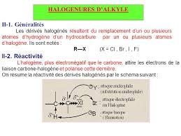 les halogenes hydrocarbures aliphatiques et aromatiques les derives halogenes