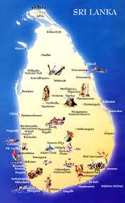 Map Of Sri Lanka City Maps Stadskartor Och Turistkartor China Japan Etc Travel