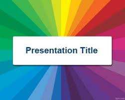 powerpoint design colors rainbow colorful powerpoint template backgrounds slide design