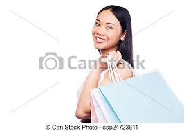 stock photography of shopping is the best female occupation side