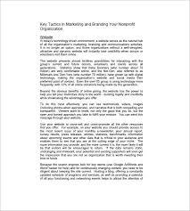 non profit marketing plan template u2013 10 free word excel pdf