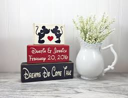 Disney Vase Disney Wedding Gift Mickey And Minnie Mouse Personslized Sign