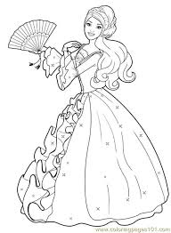 barbie admires dress coloring pages barbie printable coloring