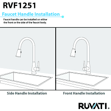 kitchen faucets oil rubbed bronze ruvati rvf1251rb pullout spray single handle kitchen faucet u2013 oil