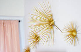 Gold Wall Decor by Diy Gold Sea Urchin Starburst Wall Decor Tutorial Maegan