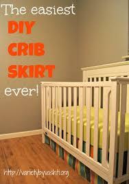 Crib Bed Skirt Diy The Easiest Diy Crib Skirt Variety By Vashti