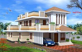 Two Story Small House Plans Creative Exterior Design Attractive Kerala Villa Designs Kerala