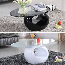 Glass Oval Coffee Table Oval Coffee Table Ebay
