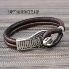 leather bracelet clasps images Easy diy snake clasp leather bracelet happy hour projects jpg