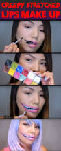 chic yet spooky stretched lips makeup for halloween u2013 cute diy