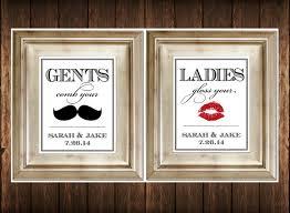 set of 2 bathroom signs customized ladies u0026 by serenitynowstudio