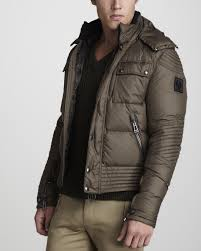 padded motorcycle jacket belstaff kaine puffer motorcycle jacket in brown for men lyst