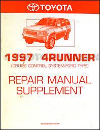 toyota 4runner repair 1997 toyota 4runner cruise repair shop manual supplement
