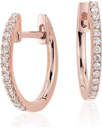 hoop huggie new savings on diamond huggie hoop earrings in 14k