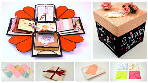 anniversary gift diy crafts exploding explosion box anniversary gift