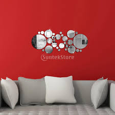 new arrivals filled circle mirror style removable decal art getsubject aeproduct