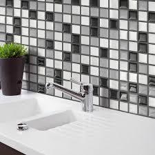 Wallpaper Home Decor Modern 3d Mosaic Tile Modern Wallpaper Foil Sticker Bathroom Kitchen Home