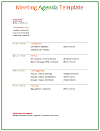 meeting agenda template doc word excel calendar template letter