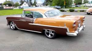 1955 chevrolet 2 door hard top brown youtube