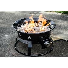 Menards Firepit by Furniture Heininger Heininger Portable Propane Fire Pit In Black