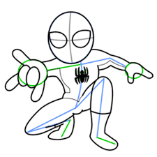 spiderman easy drawing best images collections hd for gadget