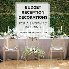 Wedding Reception Vases Budget Backyard Reception Decorations The Backyard Wedding