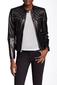 jacket moto cole haan genuine lambskin leather moto inspired jacket