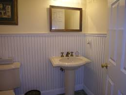 great how to cover bathroom tile with wainscoting 89 for home