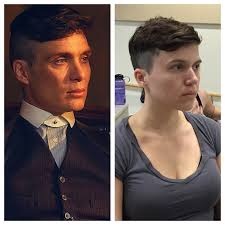 peaky blinders haircut told my friend she looks like cillian murphy in peaky blinders