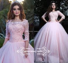2018 newest pink ball gown quinceanera dresses off shoulder half