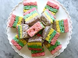 rice krispie treats for thanksgiving layered peeps crispy treats recipe myrecipes