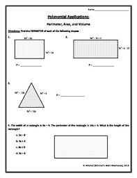 polynomials perimeter area and volume by mitchell u0027s math madhouse