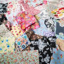 christmas fabric scraps bag 100g bundle for craft remnants