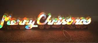 free vintage merry light up 23 greeting sign free