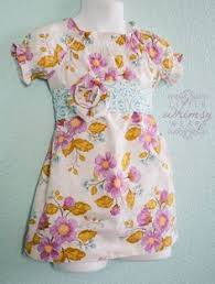 beautiful wrap style easter dress in designer by littlewhimsywears