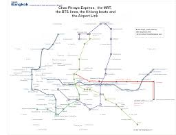 American Airlines Route Map Pdf by Bangkok Skytrain Map Of Mrt And Bts Lines Asian Travel Tips