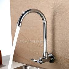 waterfall kitchen faucet commercial sink faucets wall mount animals with droopy wall