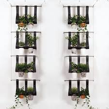 Hanging Wall Planters Vertical Balcony Friendly Hanging Planter System Urban Gardens