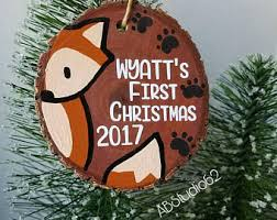 personalized baby christmas ornament baby s christmas ornament personalized wooden