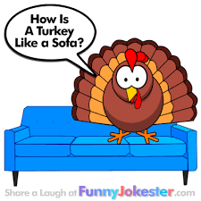 turkey on the sofa joke