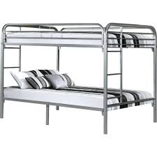 bunk beds silver bunk bed black wooden with study table and of