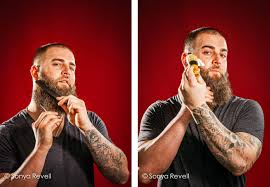 michael dezer conceptual portraits of boston red sox player mike napoli for
