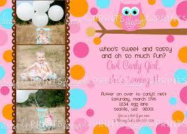 polka dots invitations owl polkadots girl birthday invitation dimple prints shop