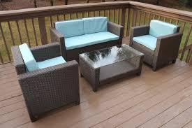 Modern Wicker Patio Furniture - amazon com oliver smith large 4 pc modern brown rattan wiker