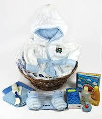 Baby Shower Baskets Amazon Com Sunshine Gift Baskets Baby Bath Robe Gift Set With