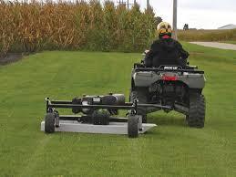 2011 atv and utv pull behind mower attachment buying tips atv