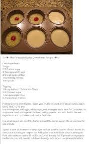 mini pineapple upside down cakes food pinterest